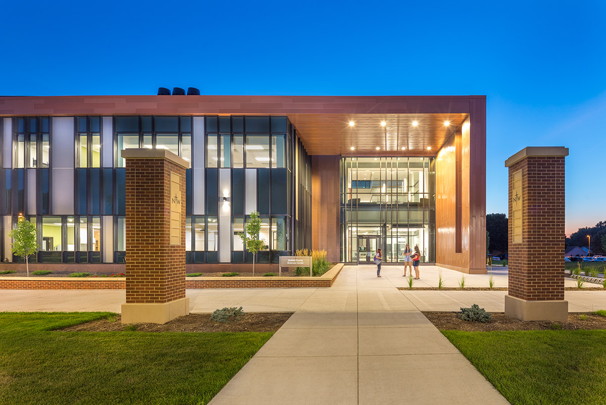 Northwestern College Natural and Health Sciences Building | Consulting Engineering Northwest Iowa | Mechanical Engineering Design Services | Engineering Design Associates, Inc. | EDA