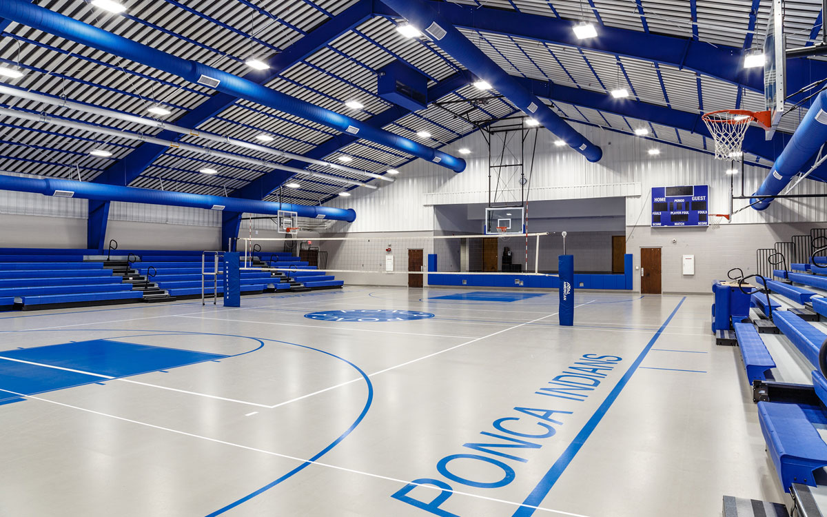 Ponca School Gym Renovation | Help building a school gym near me | Engineering Design Associates